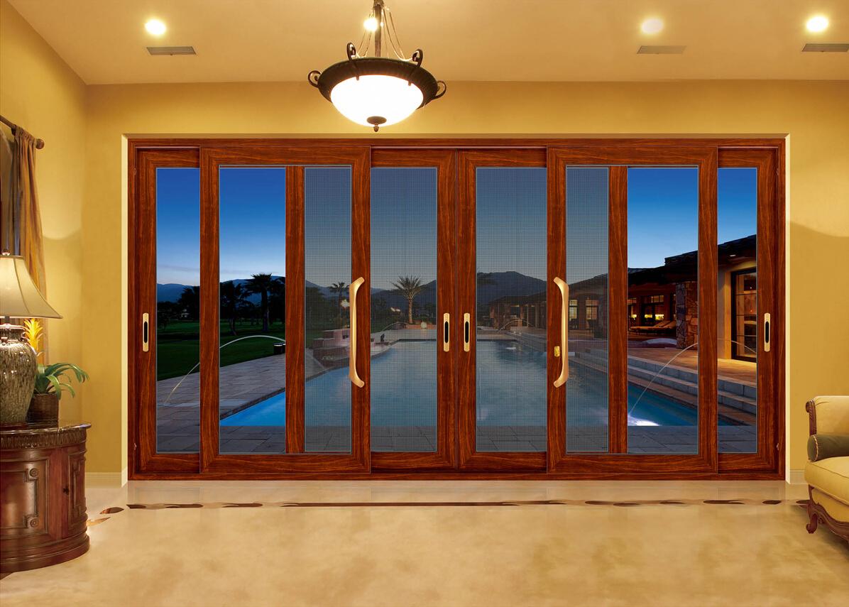 石家庄畅销门窗——强宁隔热断桥铝门窗安装效果展示