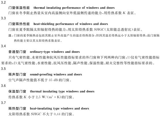 《铝合金门窗》国家标准